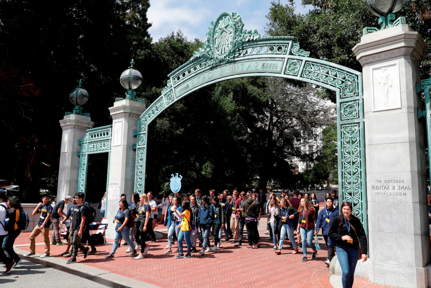 Sather Gate Washington Post photo Marcio Jose Sanchez/AP