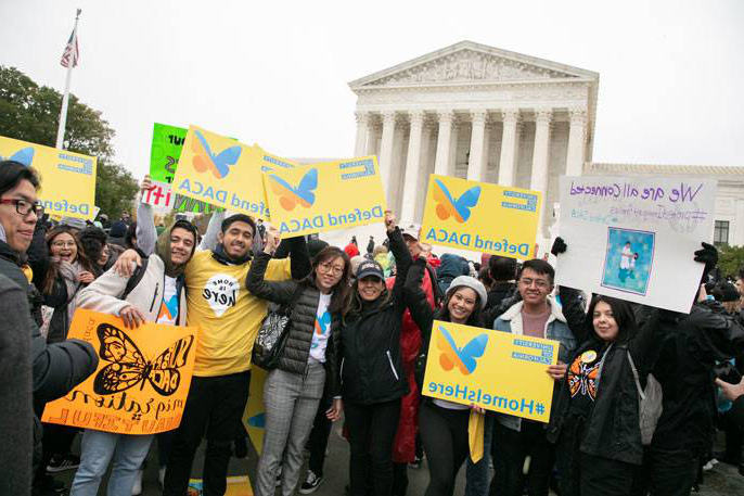 UC students rally outside SCOTUS